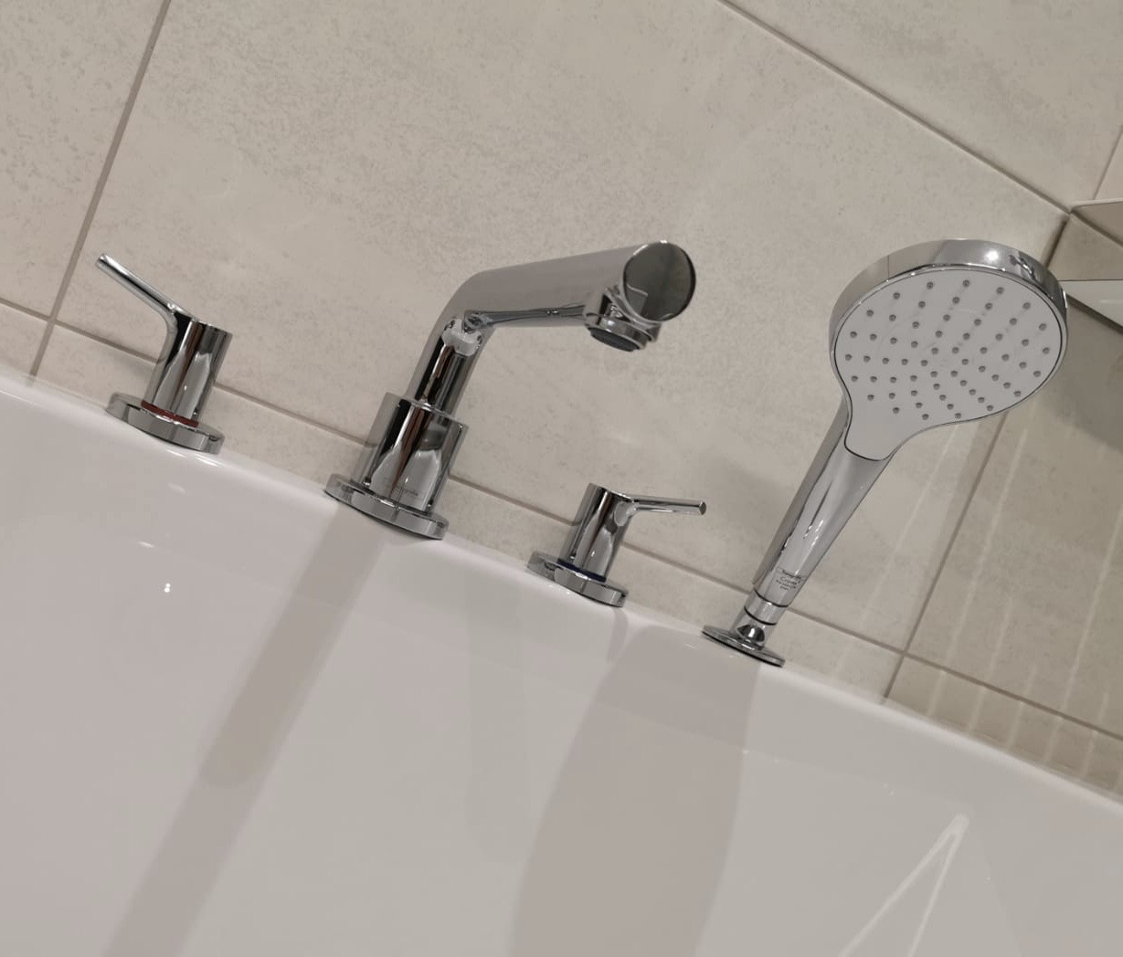 Hansgrohe Talis S 4 hole bath set | Wakefield Bathrooms